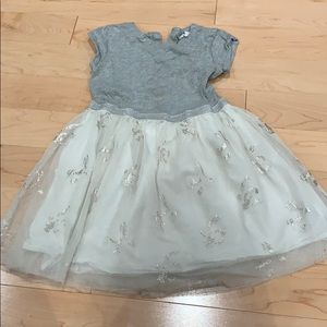 White glitter tulle dress
